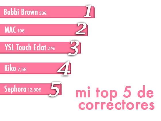 MI TOP 5 DE CORRECTORES