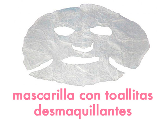 MASCARILLA CON TOALLITAS DESMAQUILLANTES