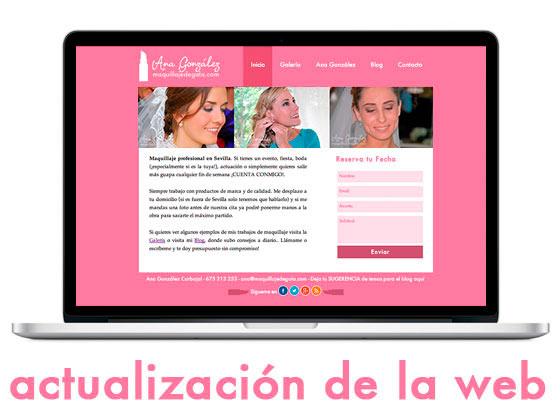 Actualización de la web maquillajedegala.com
