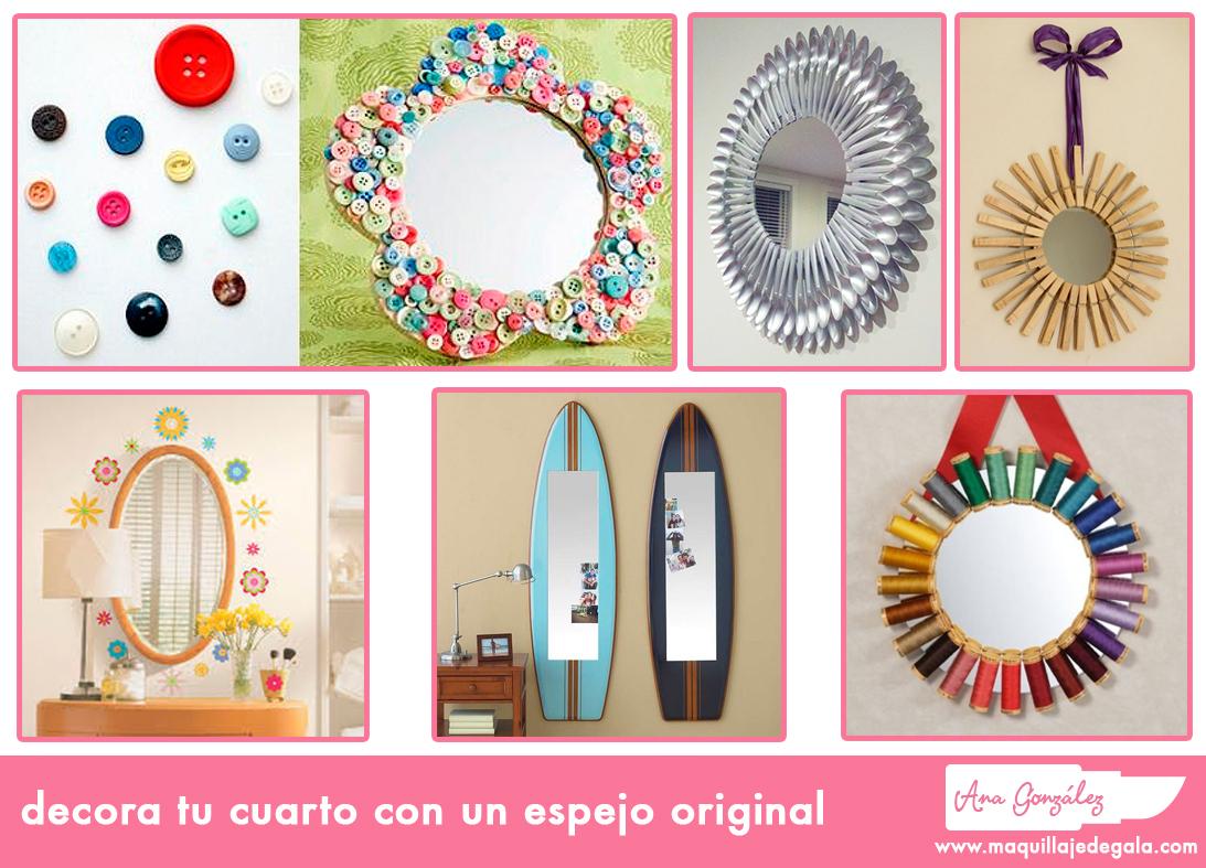 Decora Tu Cuarto Con Un Espejo Original Maquillaje De Gala - Espejo-original