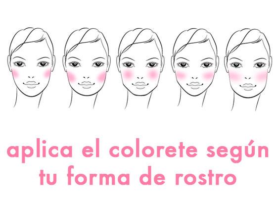 Aplica el colorete según tu forma de rostro