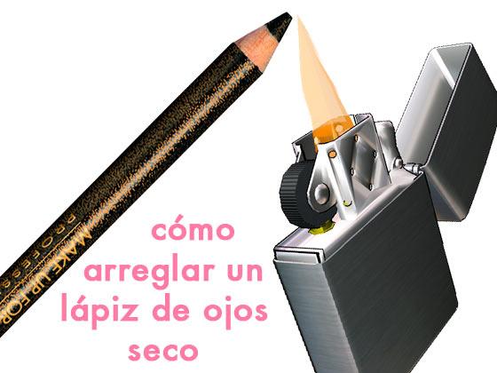 Cómo arreglar un lápiz de ojos seco