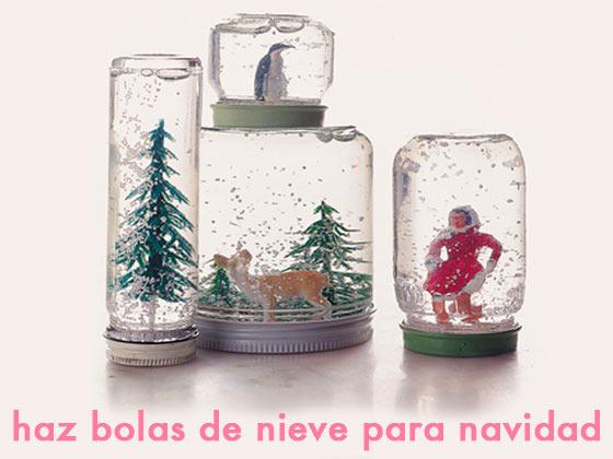 Haz bolas de nieve para navidad
