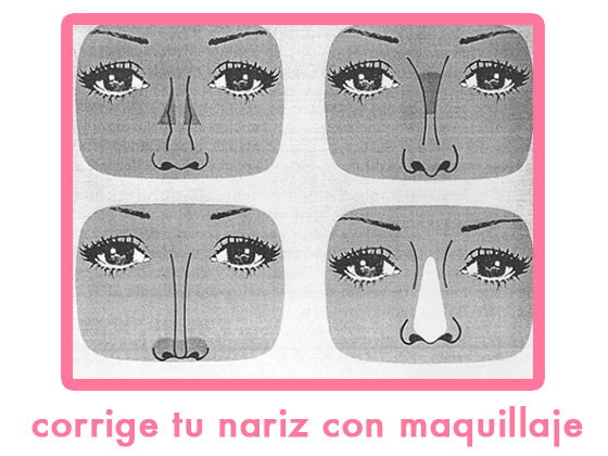 Corrige tu nariz con maquillaje