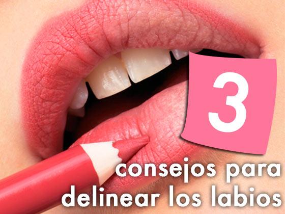3 consejos para delinear los labios