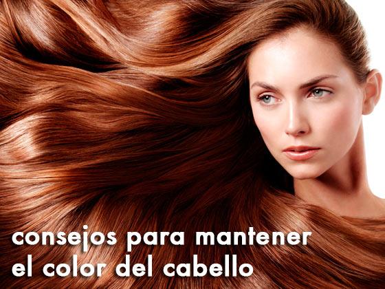 Consejos para mantener el color del cabello