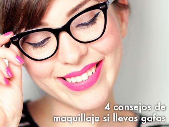 4 consejos de Maquillaje si llevas Gafas