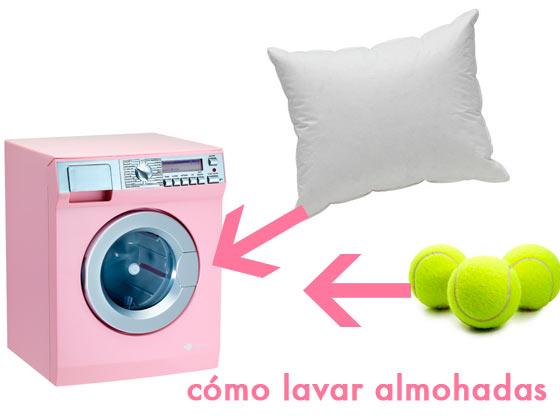 Cómo lavar almohadas