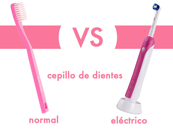 Cepillo de dientes normal VS eléctrico