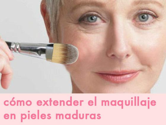 Cómo extender el maquillaje en pieles maduras