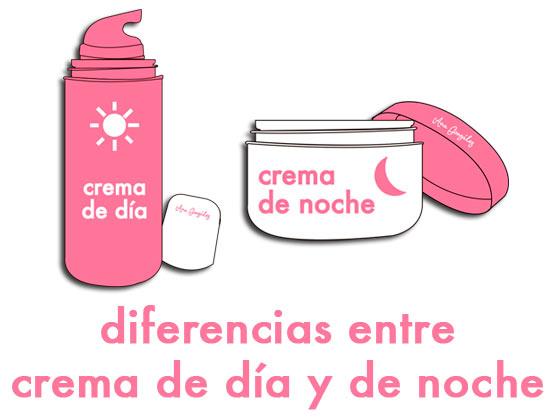 Diferencias entre crema de día y de noche