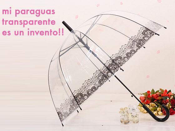Mi paraguas transparente es un invento!!
