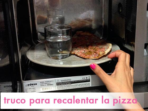 Truco para recalentar la pizza