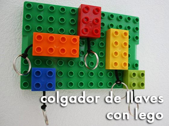 Colgador de llaves con Lego