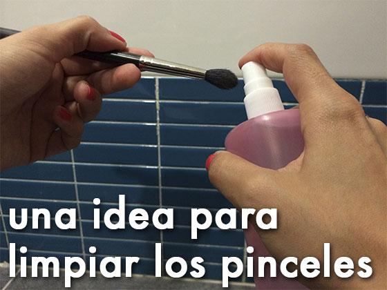 Una idea para limpiar los pinceles