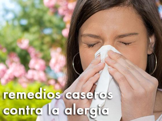 Remedios caseros contra la alergia