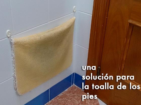 Una solución para la toalla de los pies