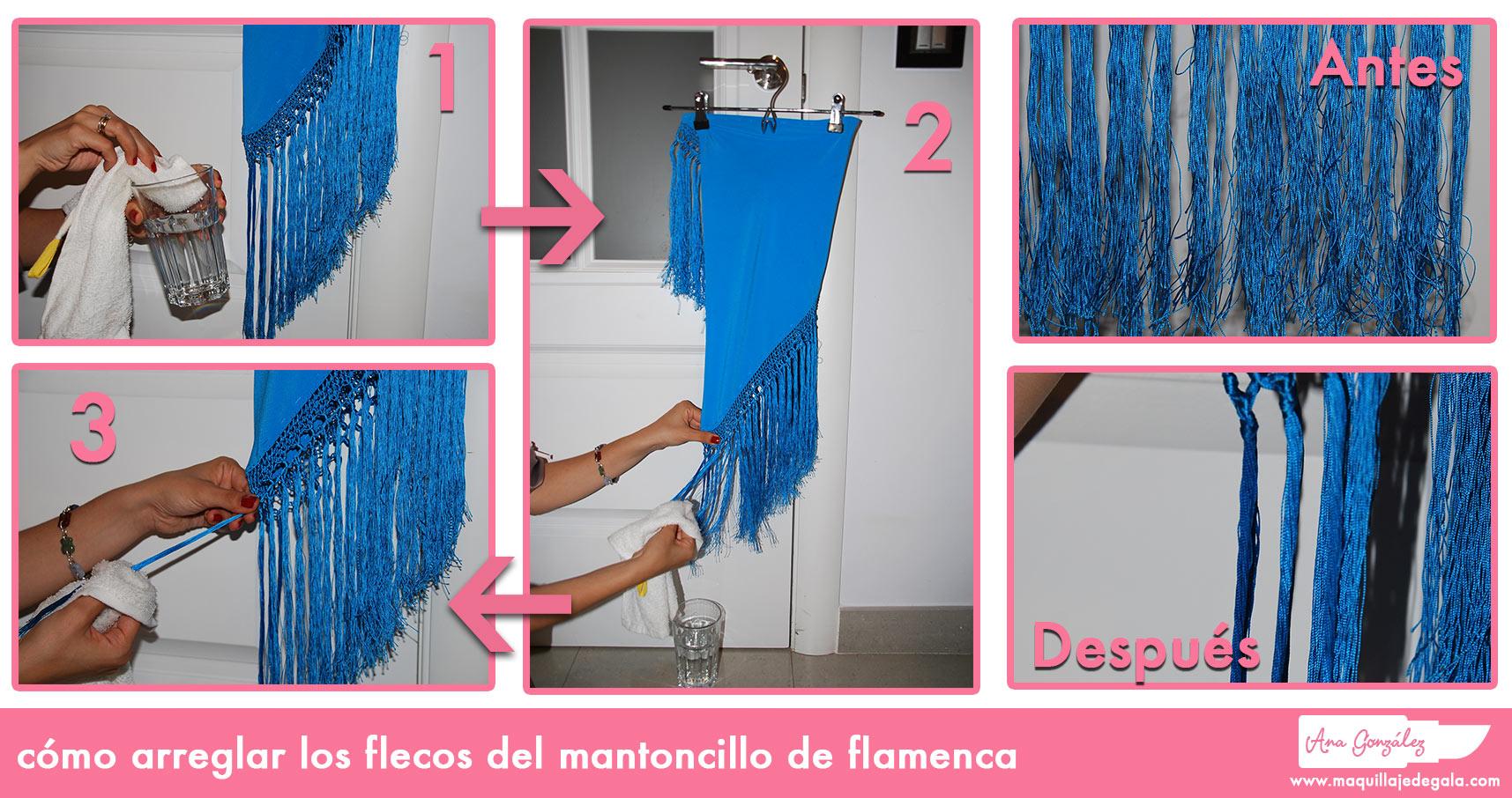 Cómo Arreglar Los Flecos Del Mantoncillo De Flamenca Maquillaje De Gala