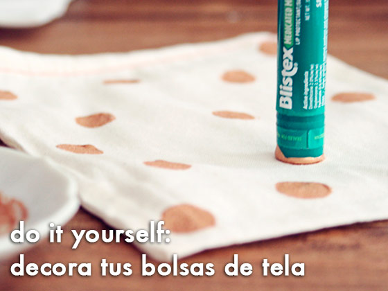 Do it yourself: decora tus bolsas de tela