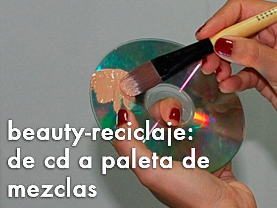 Beauty-reciclaje: de CD a paleta de mezclas