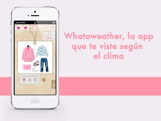 Wathoweather, la app que te viste según el clima