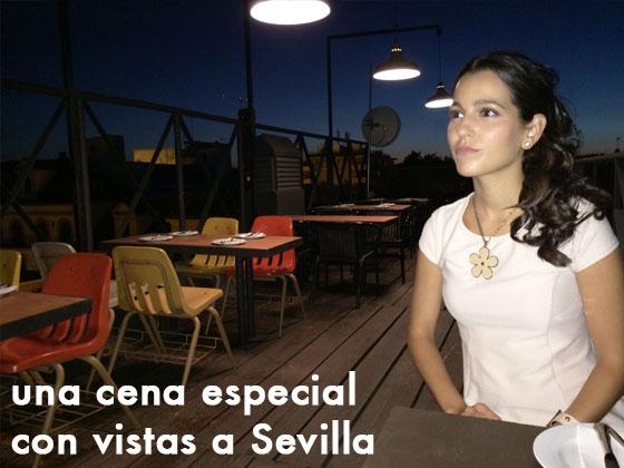 Una cena especial con vistas a Sevilla