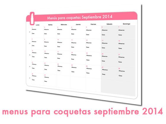 Menús para Coquetas Septiembre 2014
