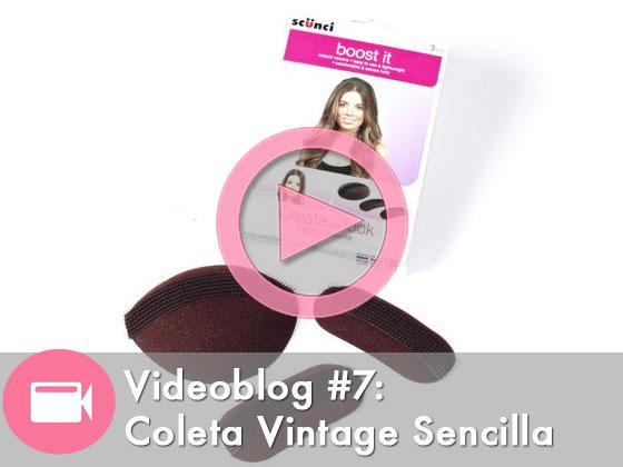 Videoblog #7: Cómo hacer una coleta vintage rápidamente