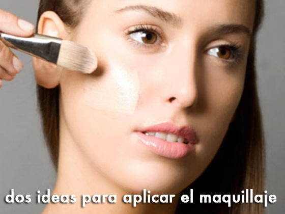 Dos ideas para aplicar el maquillaje