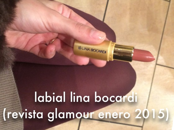 Labial Lina Bocardi (Revista Glamour Enero 2015)