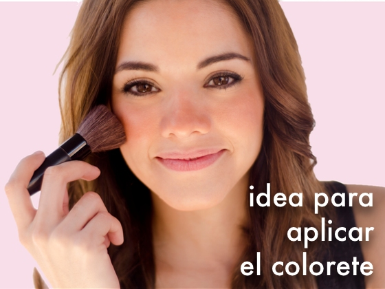 Idea para aplicar el colorete