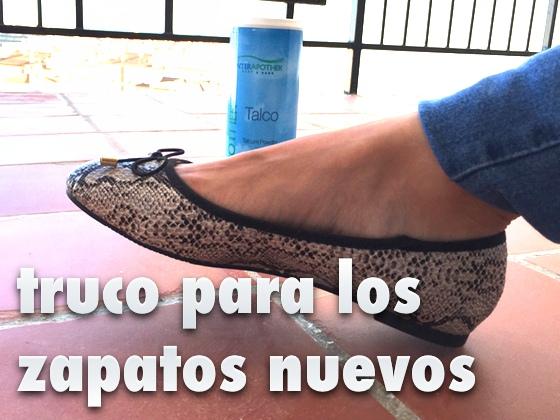 Truco para los zapatos nuevos