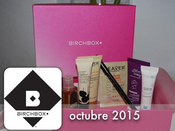 Birchbox Octubre 2015