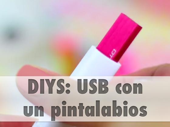 DIY: USB con pintalabios