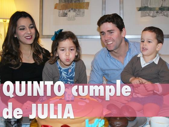 Quinto cumple de Julia