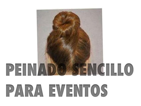 Peinado sencillo para eventos