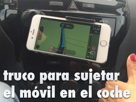 Truco para sujetar el móvil en el coche