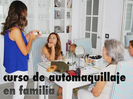 Curso de automaquillaje en familia
