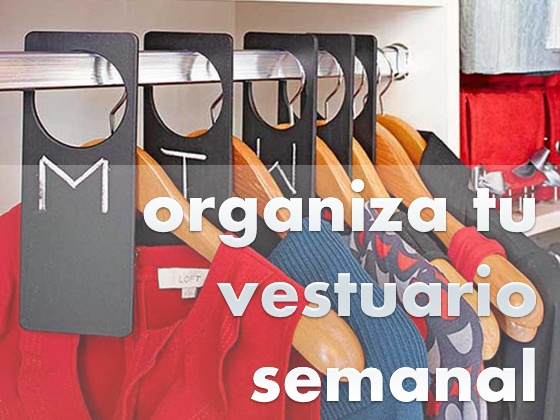 Organiza tu vestuario semanal